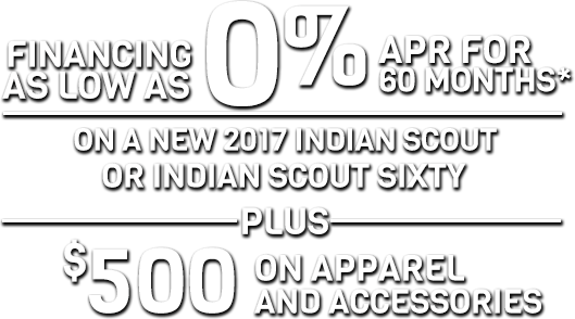 Indian Motorcycle August 2017 Promotion